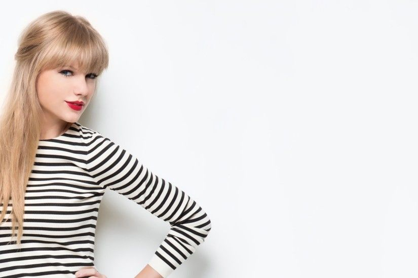 Taylor Swift, Celebrity, Blonde, Singer, Striped Clothing, Red Lipstick,  White Background, Hands On Hips Wallpapers HD / Desktop and Mobile  Backgrounds