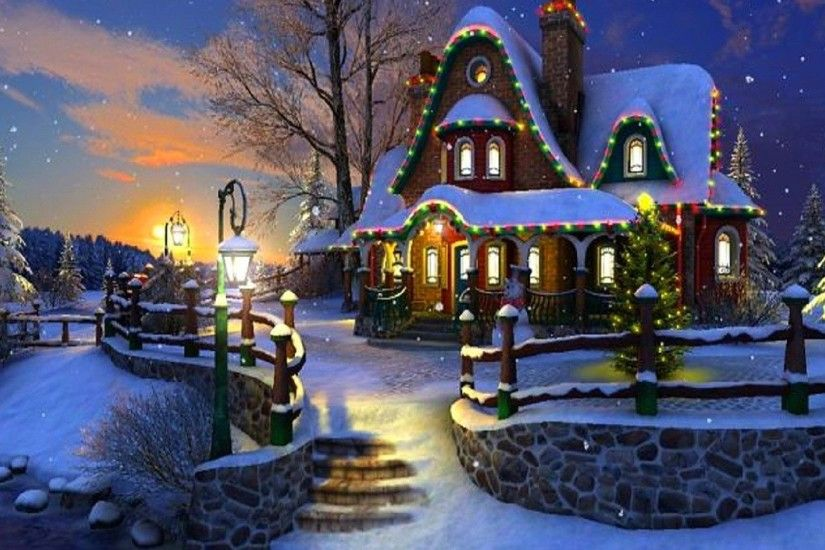 Country Christmas Background Wallpaper.Christmas Scenery Backgrounds Wallpapertag