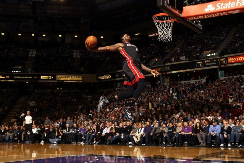 Miami Heat Dunk 4K Lebron James Wallpaper