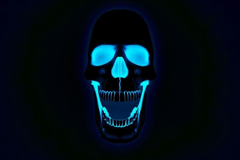 Glowing Neon Skull Photos Free HD Wallpapers Amazing