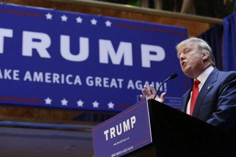 Real estate mogul and TV personality Donald Trump formally announces his  bid for the 2016 Republican