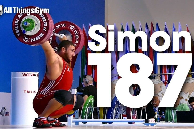 Simon Martirosyan 187kg Snatch + 225kg Clean & Jerk 2016 Junior World  Weightlifting Championships - All Things Gym