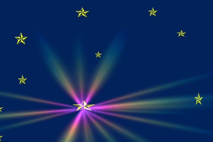 Gold Stars, Rainbow Flare backgrounds