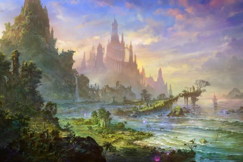 Fantasy Landscapes Cities Architecture 2000x1250