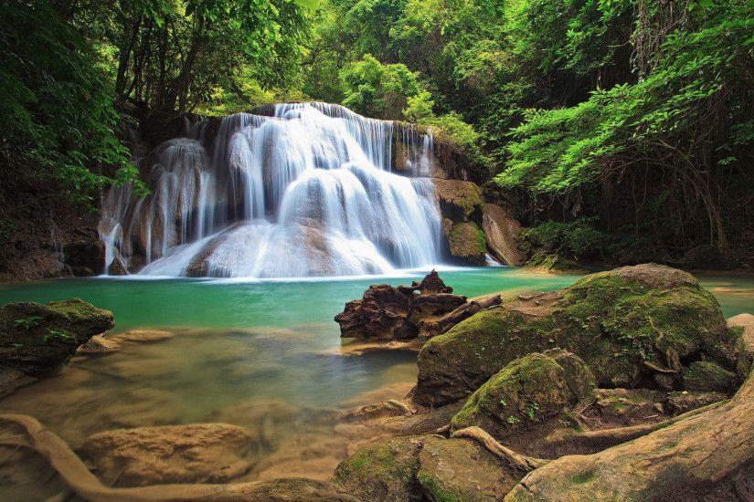 waterfalls hd wallpaper