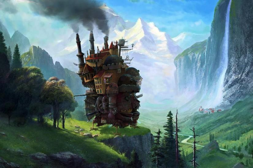 cool howls moving castle wallpaper 2560x1527 computer