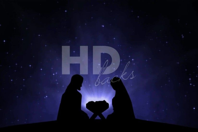 Nativity Silhouette - HD Background Loop