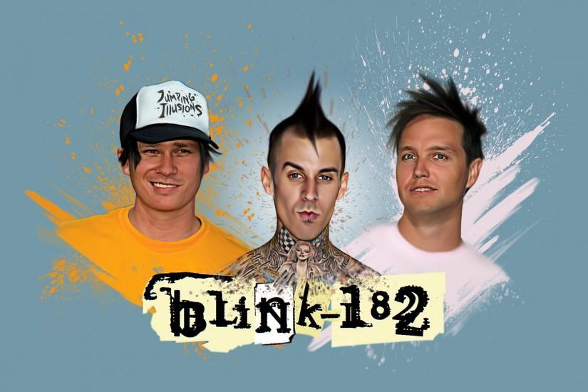 I decided to create my own blink-182 wallpaper. Going to make it as poster  for my room as well!