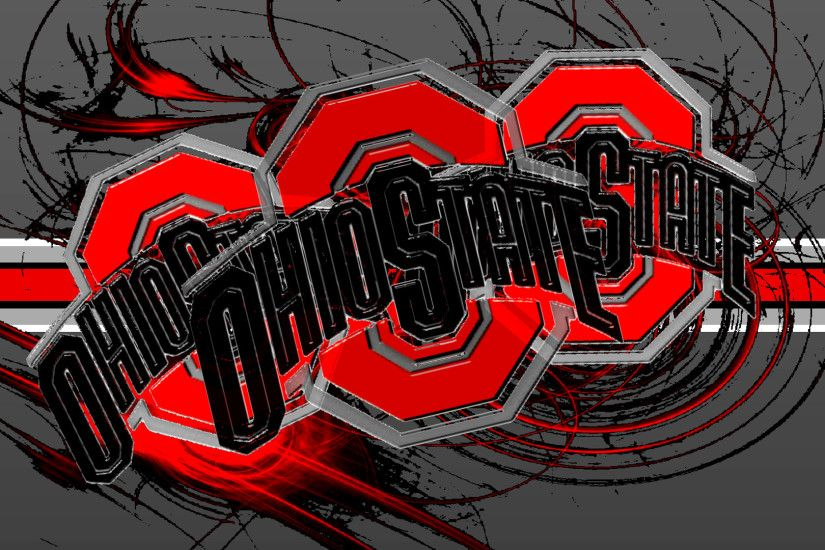 Ohio State Buckeyes images 3 RED BLOCK O'S WITH A BUCKEYE STRIPE HD  wallpaper and background photos