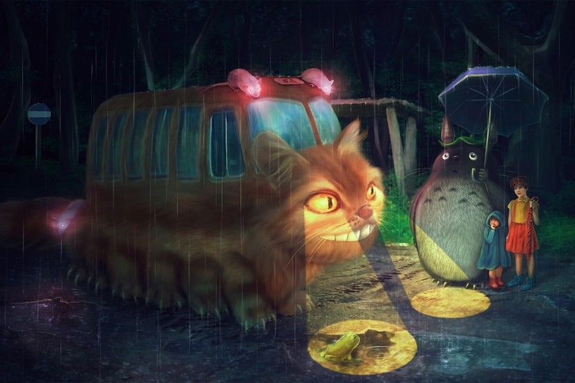 My Neighbor Totoro Cat Bus. My Neighbor Totoro Cat Bus hd wallpaper