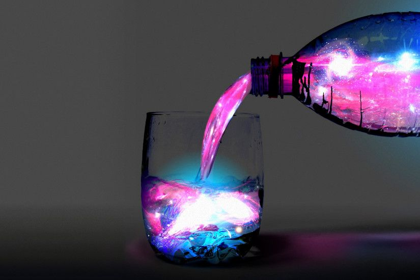 Blue and Purple Drink