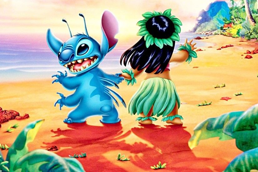 "Stitch and Lilo Pelekai from ""Lilo & Stitch"" HD Wallpaper and background  photos of Walt Disney Wallpapers - Stitch & Lilo Pelekai for fans of Walt  Disney ..."