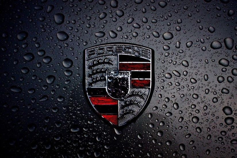 Dark Porsche Logo Wallpaper