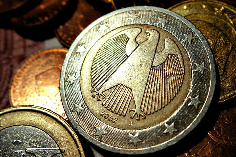 German 2 Euro Coins - germany wallpaper