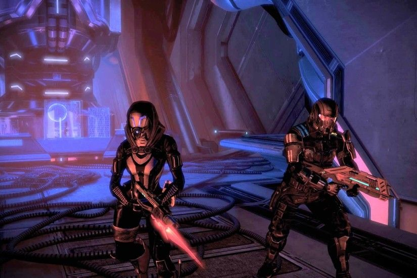 Mass Effect 3 Tali and Kaiden Ready for Battle Dreamscene Video Wallpaper