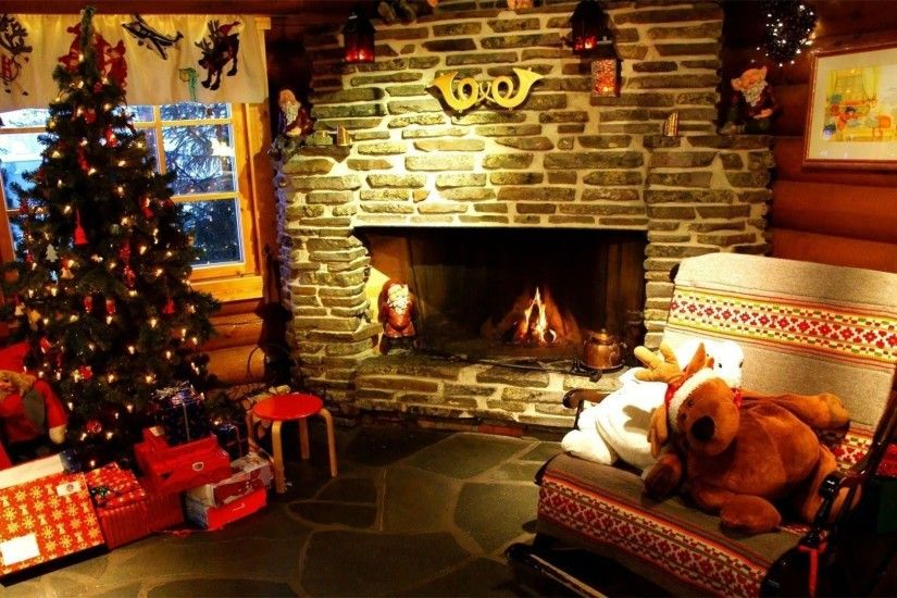Christmas fireplace wallpaper - Holiday wallpapers - #