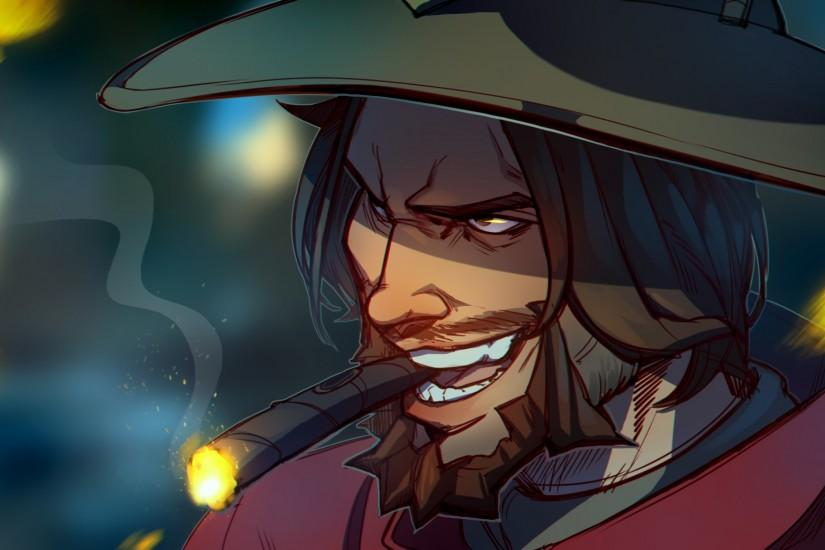 mccree wallpaper 2048x1152 full hd