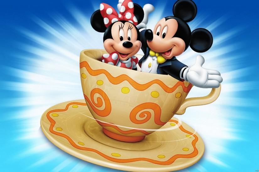 Mickey & Minnie Mouse Cartoon Pictures Cup Coffee Hd Wallpapers :  Wallpapers13.com