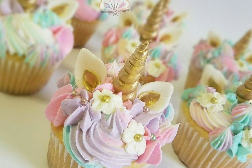 adorable trending unicorn cupcakes by The Crumb Canvas