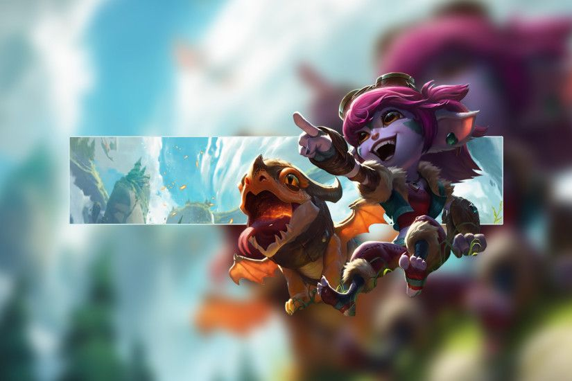 Dragon Trainer Tristana by Insane HD Wallpaper Fan Art Artwork League of  Legends lol