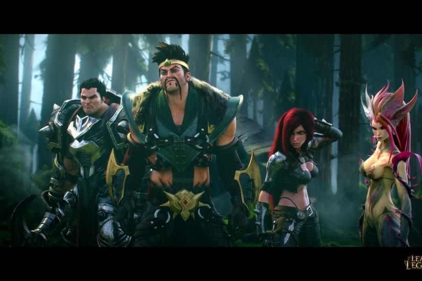 League Of Legends Darius Draven Katarina Zyra Riot Games Wallpaper
