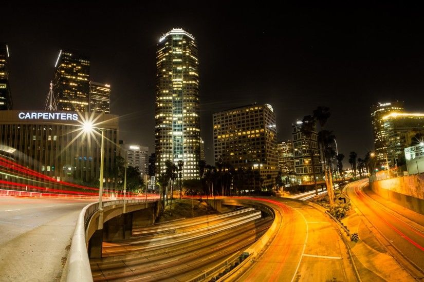 Los Angeles city night wallpaper | 1920x1080 | 282023 .