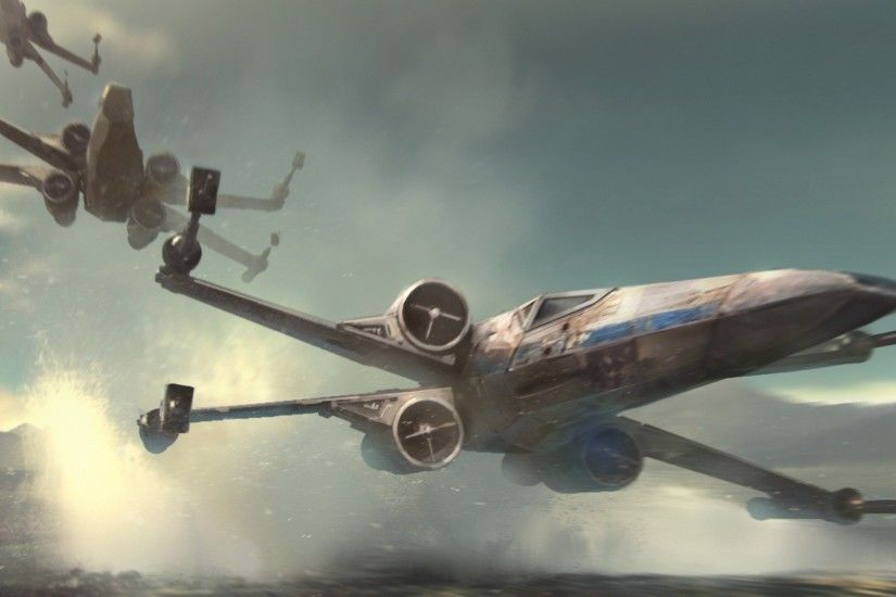 artwork, Star Wars, Star Wars: Episode VII The Force Awakens, X wing  Wallpapers HD / Desktop and Mobile Backgrounds