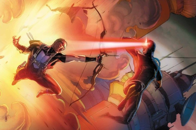 Comics - avengers vs. x-Men Cyclops (Marvel Comics) Hawkeye Wallpaper