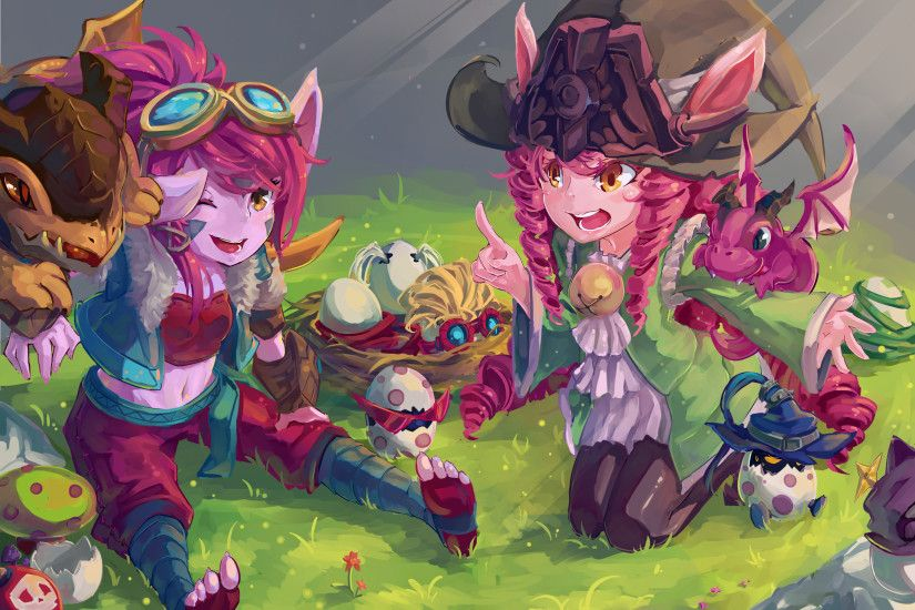 Tags: Anime, Pixiv Id 8249983, League of Legends, Tristana, Lulu (