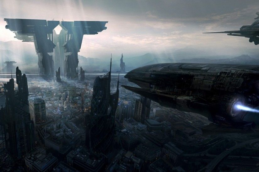 City the future ships art spaceship g wallpaper | 1925x1080 | 177770 |  WallpaperUP