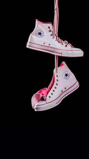 Misc iPhone 6 Plus Wallpapers - Hanging Converse White Pink iPhone 6 Plus  HD Wallpaper
