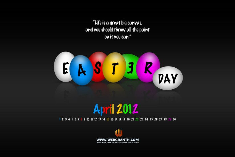 ... Easter Wallpapers, Happy Easter Wallpaper 2012 with Calendar Download  Free