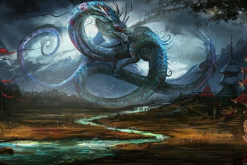 Dragon Fantasy Wallpaper Wallpaper