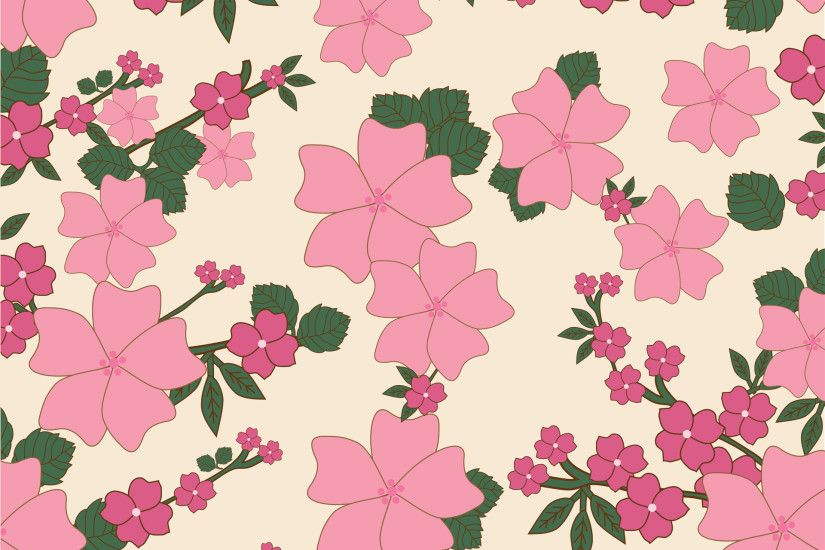 Vintage Floral Wallpaper Background