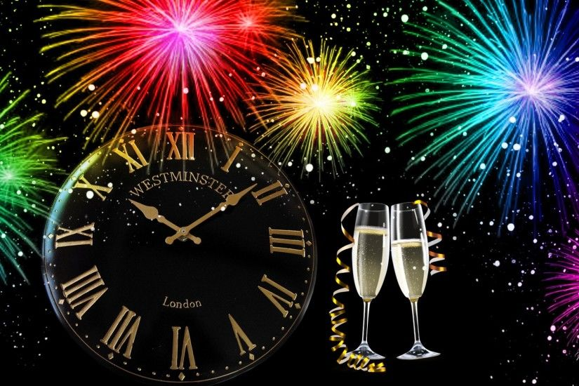 New Years Eve Clock Wallpaper (08)