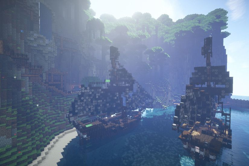 Minecraft Pirates of The Caribbean Wallpaper