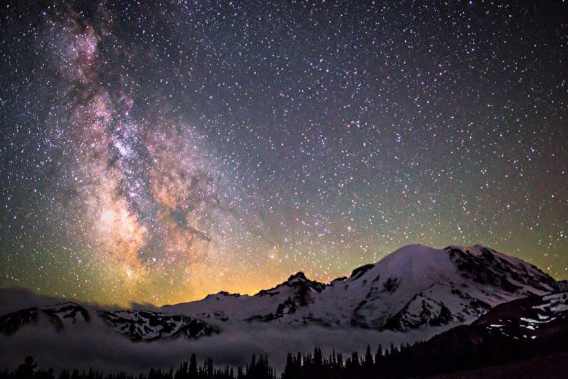 space star night space milky way mountain