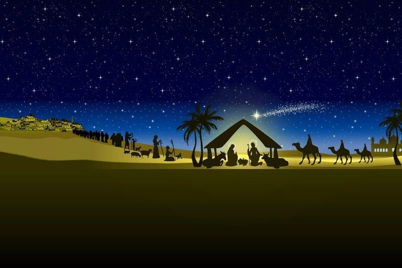 Nativity Scene Desktop Wallpapers Group (60 ) ...