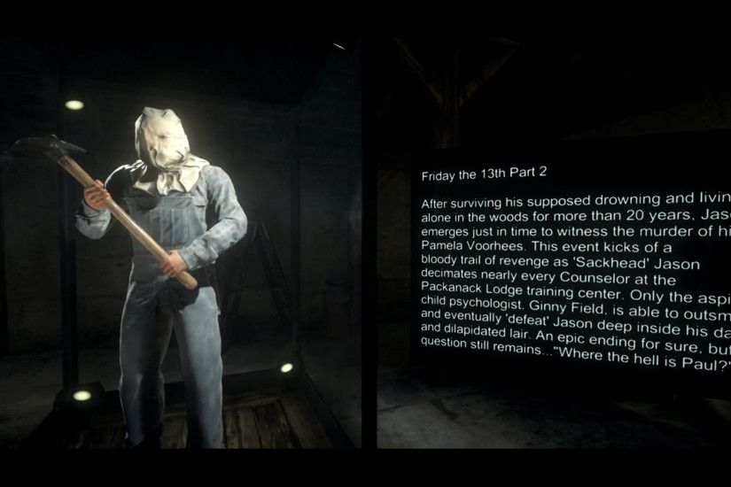 Friday the 13th Game: Unmasked and Masked Jason models.