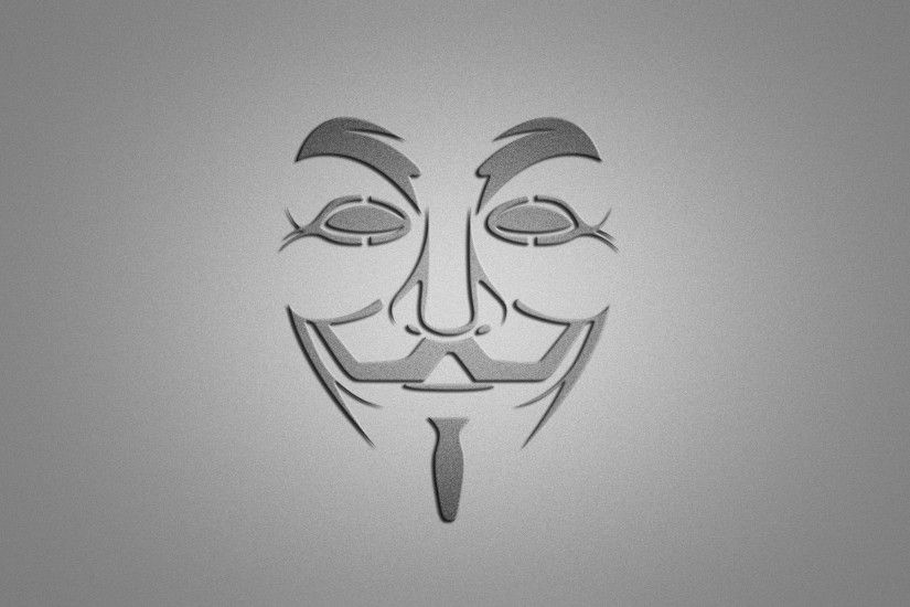 v - vendetta v for vendetta mask smile minimalism gray background