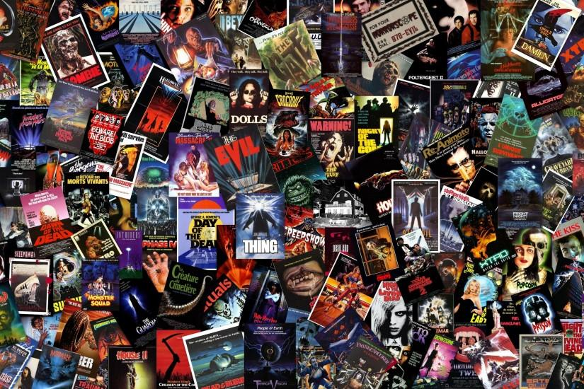Horror Collage Wallpaper - Horror Movies Wallpaper (29491579) - Fanpop .