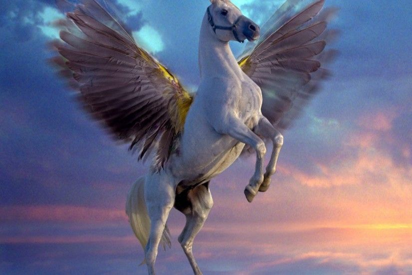 Creatures mythical pegasus white wallpaper