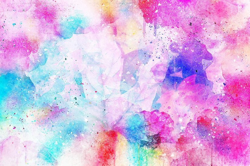 Preview wallpaper watercolor, spots, bright, pink 1920x1080