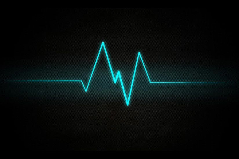 Cardiogram black abstract picture