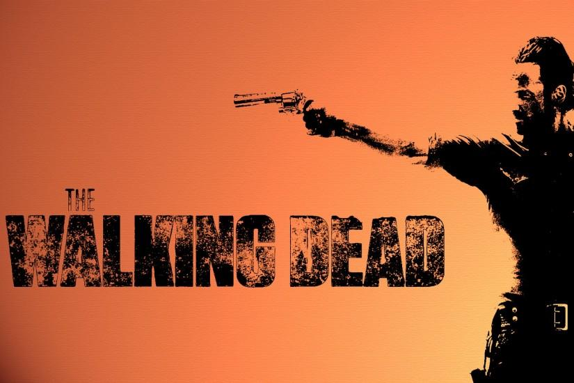 The Walking Dead televion zombies weapons guns wallpaper background