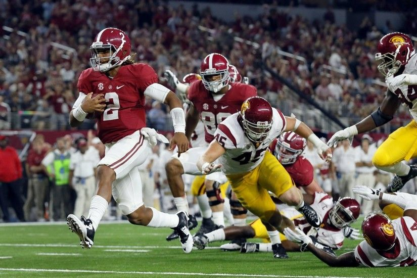 No. 1 Alabama rolls with freshman QB to beat No. 20 USC 52-6 - The San  Diego Union-Tribune