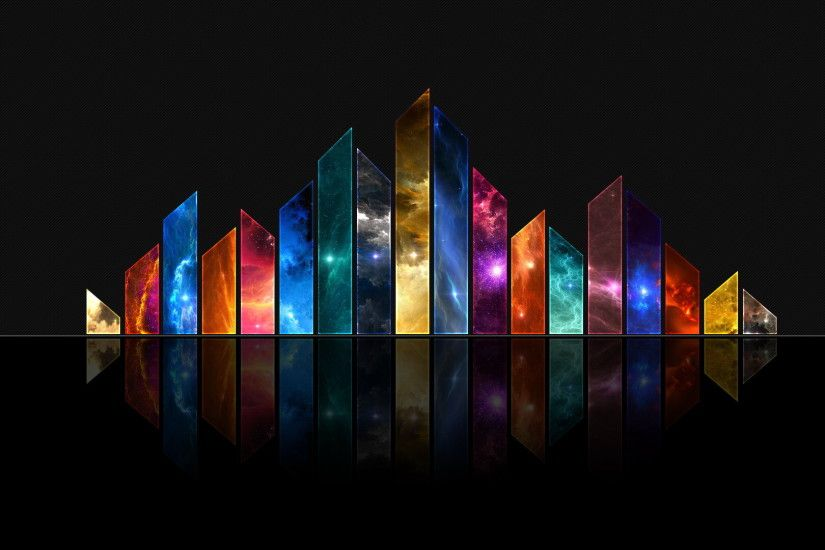 Abstract - Colors Light Crystals CGI Shapes Texture Fractal Abstract  Artistic Wallpaper