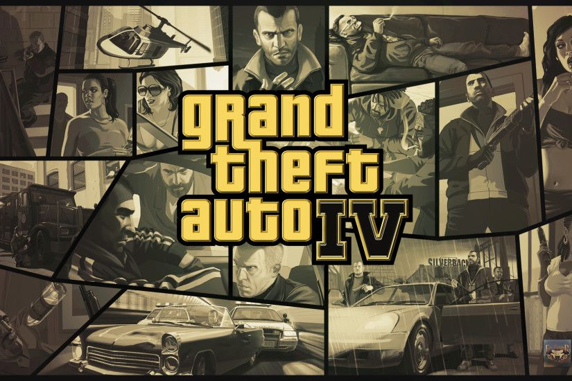 ... Grand Theft Auto IV Gold Logo Wallpaper by eduard2009