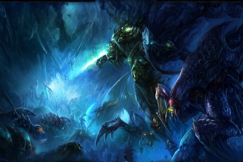 878445-artwork-blizzard-entertainment-hydralisk-protoss-roach-starcraft-ii-video-games-zeratul- zerg.jpg (1920×1080) | Starcraft | Pinterest | Starcraft, ...