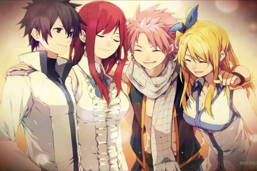 funnytea images anime fairy tail fullbuster gray scarlet erza dragneel  natsu heartfilia lucy HD wallpaper and background photos
